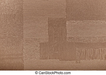 Background from brown coarse canvas texture