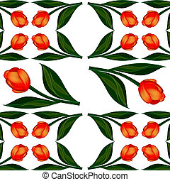 Background of flowers tulips