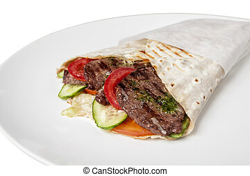 Shawarma - Food, restaurant menu meals, snacks