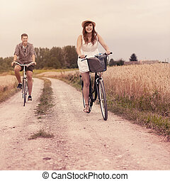 Cycling in summertime