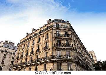 Paris Apartments block - Paris Apartment block, in the...