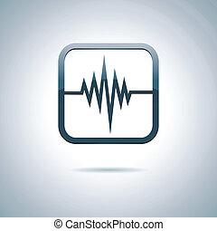 Heart and health icon