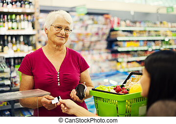 Pagar, credito, tarjeta, compras