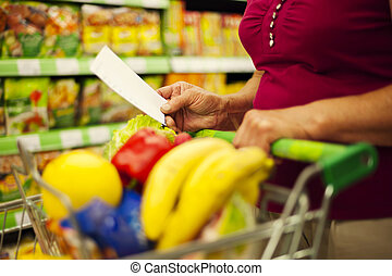 Close-up of shopping list