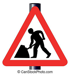 Men at Work Traffic Sign - The traditional 'Men at Work'...