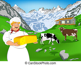 Chef and dairy cheese - Chef and Natural swiss dairy cheese...