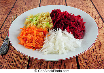 Beetroot, turnip, carrot and apple salad - Salad from...