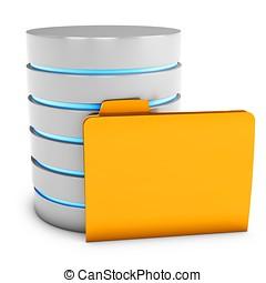 3d database server with folder