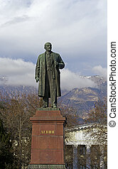 Lenin in Yalta - Monument of Lenin at Yalta embankment,...
