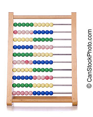 abacus cut out - retro abacus on a white background