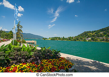 Lake Tegernsee in Bavaria - Lake Tegernsee near the town...
