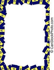 Barbados flag frame