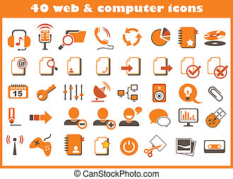 40 web and computer icons