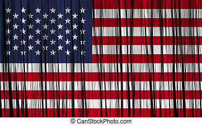 USA American Flag with a folded fabric texture