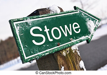 Stowe road sign
