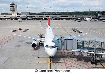 Aircraft at boarding
