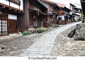 Magome - Japan - famous Nakasendo trail in Magome old town....