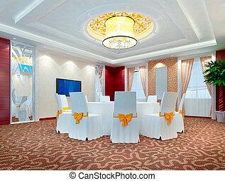 3d modern restaurant