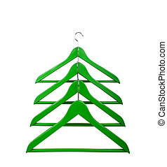 Clothes hangers in the form of a Christmas tree Christmas...