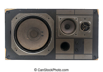 Damaged retro speaker