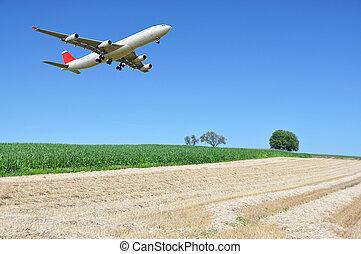 Aircraft at landing