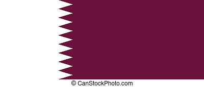 Flag of Qatar - Current national flag and ensign of Qatar...