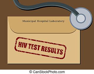 HIV test results - Medical patient file folder - HIV test...