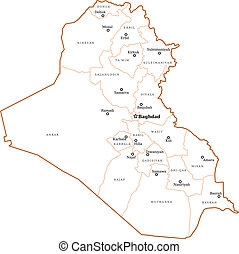 Iraq outline map