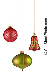christmas balls isolated on white background. FIND MORE...