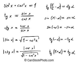 Wiskunde formules meetkunde