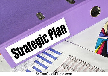 Strategic Plan folder on a market report