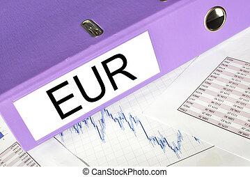 EUR  folder on a market report