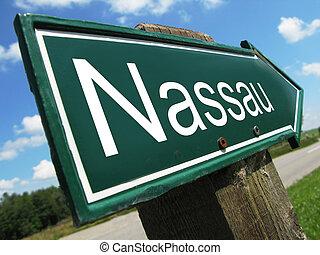 Nassau road sign