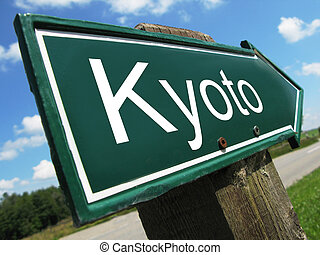 KYOTO road sign