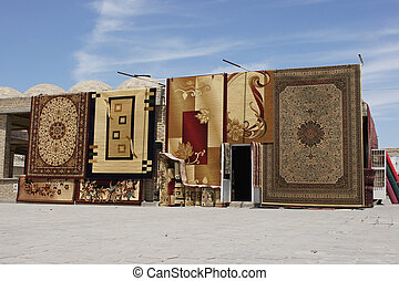 Carpet Trader, Bukhara, Uzbekistan - Typical carpet trader...