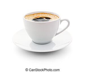 cup od coffee - cup of coffee over white background