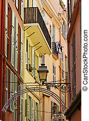 Monaco, picturesque oldtown alleyway