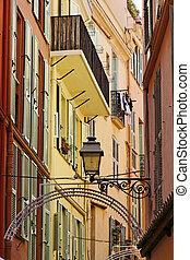 Monaco, picturesque oldtown alleyway