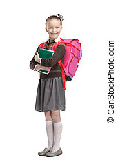 Pupil with copybooks