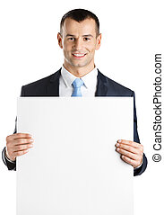 Manager hands white paper copy space