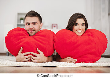 Couple with big hearts