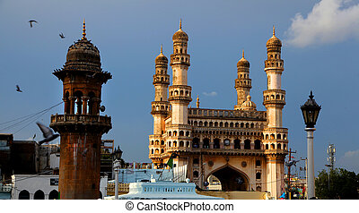 Hyderabad historic architecture - Charminar and historic...