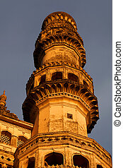 Minaret - Tall single Minaret of 400 year old Charminar