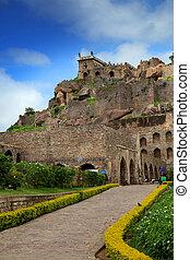 Golkonda fort - Historic Golkonda fort in Hyderabad, India