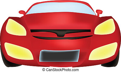 Front View Car Vector