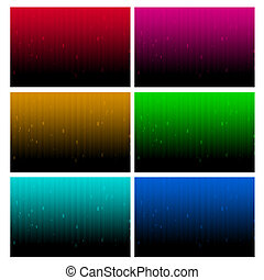 Six in one abstract spectrum in dark for background