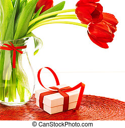 Gift for mothers day - Closeup photo of beautiful romantic...