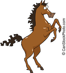 Cartoon horse - A horse on a white background vector...