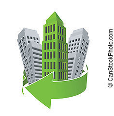 Green building - An illustration of go green concpt