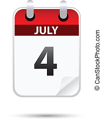july 4 on calendar, independence day